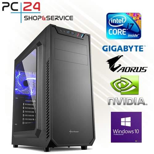 PC24 GAMER PC | Samsung 970 M.2 SSD | INTEL i7-9700K @8x4,50GHz Coffee Lake-R | nVidia GF RTX 2080 Super mit 8GB RAM | 16GB DDR4 PC2666 RAM | Gigabyte Z390 Aorus Pro | 600Watt 80+ ATX Netzteil | Windows 10 Pro | i7 Gamer PC