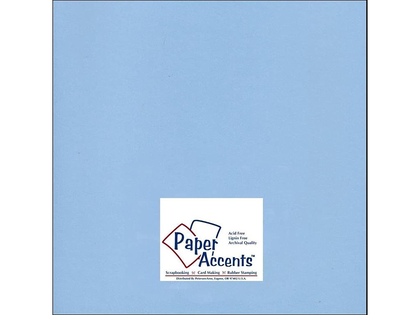 Accent Design Paper Accents Cdstk Smooth 12x12 65# Blue Willow