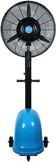 Ventilador de la fábrica Ventilador industrial con rueda y tanque de agua Ventilador grande de aire frío Tranquilo Ventilador eléctrico Vibración Ventilador de nebulización (Negro, Altura fija 175cm