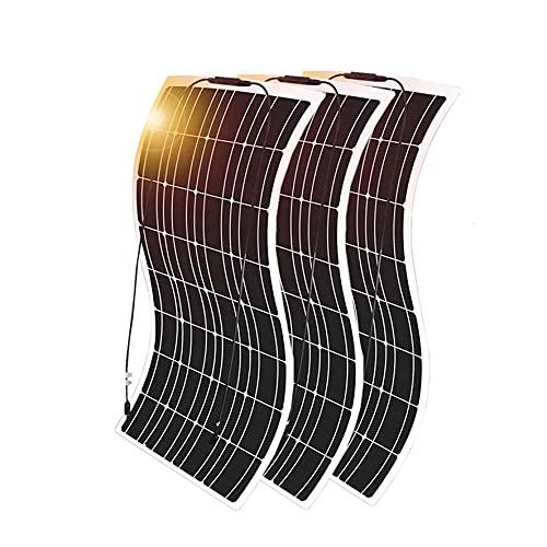 Juego de módulo de Panel Solar monocristalino 3pcs 100W Mono Panel Solar + 1000W Inverter + 30A Controlador de Carga, para Coche RV Boat Cabin Trailer 300 Watt 12V