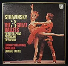 Stravinsky The 3 Great Ballets: The Rite Of Spring / Petrouchka / The Firebird (Complete Original Versions