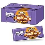 Milka Toffee Ganznuss 12 x 300g Großtafel, Zartschmelzende Schokoladentafel mit cremigem Karamel...
