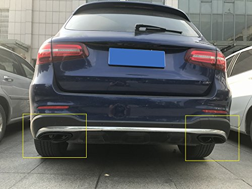 stainless steel Pipe Throat Exhaust Outputs Tail Frame Cover Trim For W213 W205 Coupe W246 W216 GLC GLE GLS CLA