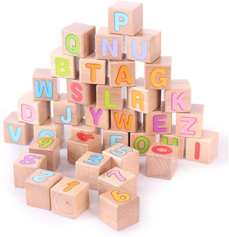 LIUFS-Giocattolo costruzione Blocks giocattolo Wooden Assemble Giocattoli per Bambini Illuminazione Cognizione Digitale Coloreee del Legno 3 Anni (Coloreee   Coloreee del Legno)