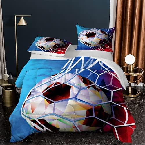 KGHANY Juego de funda de edredón de microfibra Super king con 2 fundas de almohada, fundas de edredón para niños, 220 x 260 cm + 2 fundas de almohada de 50 x 75 cm - Ball.3