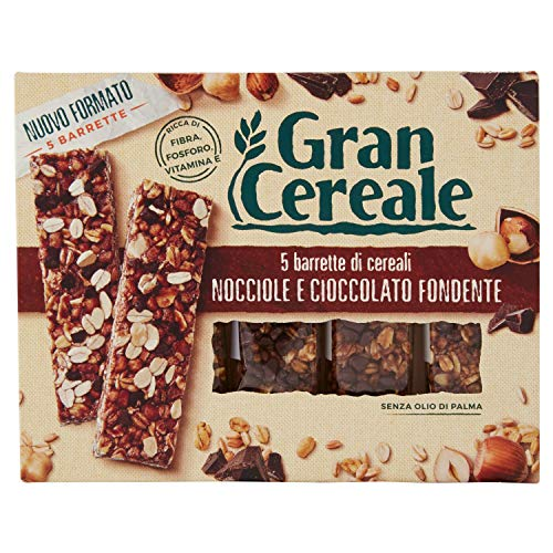 Gran Cereale Snack Barrette 4 Cereali Nocciola e Cioccolato, 135g
