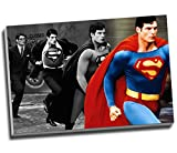 Christopher Reeve Superman - Lienzo decorativo para pared, tamaño A1, 76,2 cm x 50,8 cm