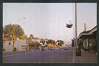 Ben Franklin Hooley's Lunch Downtown Fallbrook CA postcard 1960s