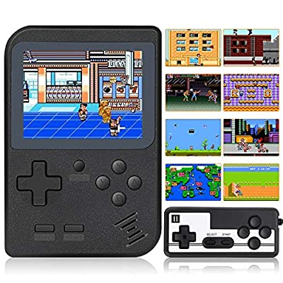 Mademax Handheld Game Console, Retro Mini Game Player with 520 Classical FC Games 3 Inch Color Screen Support for Connecting TV & 2 Players 800mAh Rechargeable Battery Present for Kids and Adult by Mademax