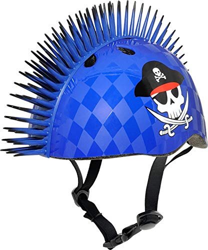 C-Preme Kinder Raskullz Eyepatch Mohawk Fahrradhelm, Blue, One Size