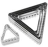 Ateco Triangle–Set di coppapasta in acciaio INOX–fronte-retro