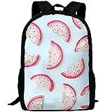 Homebe - Mochila de Viaje para portátil, diseño Vintage de Fruta de dragón, Color Rosa
