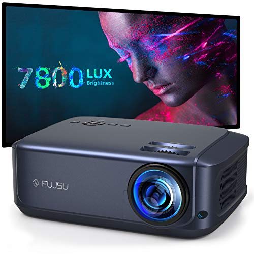 1080P Projector, FUJSU Video Projectors for Business PowerPoint Presentations, Full HD Movie Projector for Home Theater Compatible with Laptop, Smartphone, HDMI, Fire TV Stick, PS4, USB
