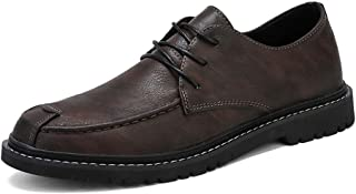 S.Y.M Men Shoes Men's Classic Oxford Casual Loafers Fashion Lace Up British Style Flats Shoes Microfiber Upper Round Toe Abrasion Resistant