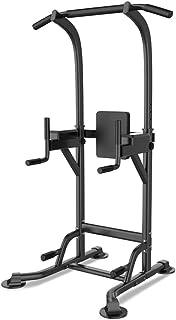 Dip Stands Boxing sandbag holder pull-ups horizontal bar indoor fitness equipment multi-function training set (Color : Bla...