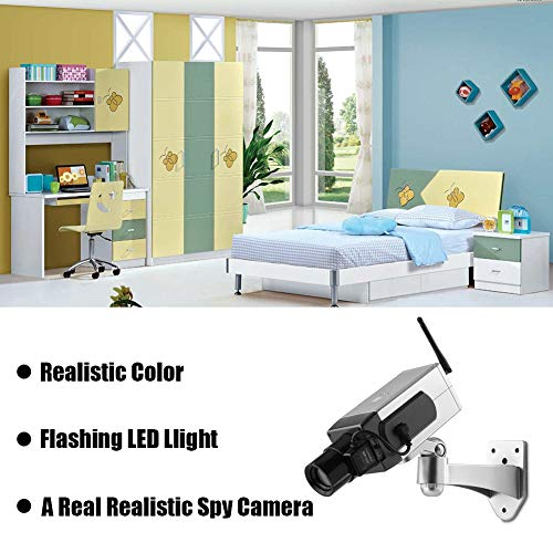 %9 OFF! hong Fake Security Cameras, Sensing Camera Dummy Fake Security Camera, for Indoor and Outdoo...