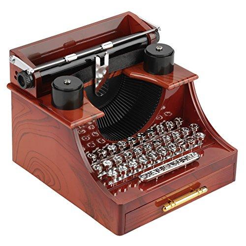 Mini Vintage Style Typewriter Clockwork Music Box Giocattoli retrò creativi Regalo Decorazione della tavola Regalo di Natale