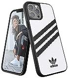 adidas EX7892 Funda diseñada para iPhone 12 Pro MAX 6.7, Fundas a Prueba de caídas, Bordes elevados, Carcasa Original Moldeada, Color Blanco/Negro