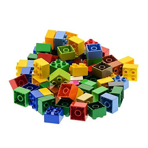 70 Teile LEGO DUPLO 4er BASIC BAUSTEINE STEINE 2x2 Noppen bunt gemischt