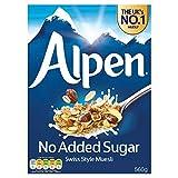 Alpen Muesli Sin Azúcar Añadido (560g) (Paquete de 6)