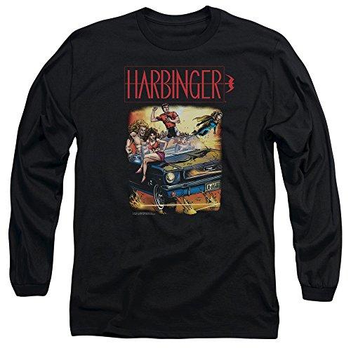 Harbinger - Vintage manches longues T-shirt pour hommes, X-Large, Black