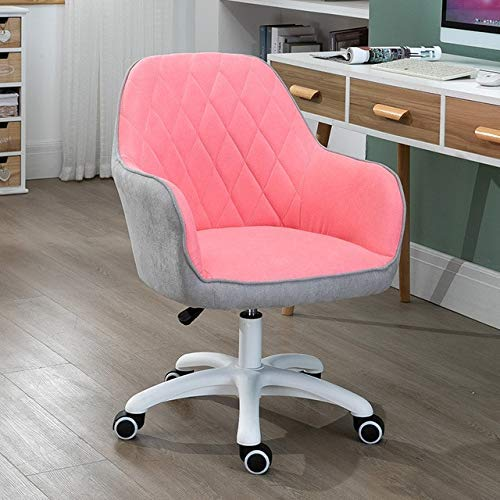 Gaming Chair Stylish Computer Chair Swivel Lifting & Rotary Sofa for Student Dormitory Home Fabric Gaming Chair Office Chairs Multicolor Gray -1513W6O8P (Color : Pink X Gray)