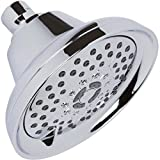 Massaging Shower Head High Pressure - Multi-Function, Massage Rainfall Showerhead With Boosting Mist For Low Flow Showers & Adjustable Water Saving Nozzle, 2.5 GPM - Chrome