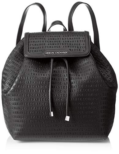 Armani Exchange - Denim Backpack, Mochilas Mujer, Negro...