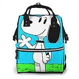 Snoopy Mochila de viaje multifunción impermeable para pañales de maternidad