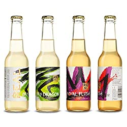CHAMPAGNE REINVENTED - Premium kombucha fermented as a sparkling wine from exquisite loose leaf teas   STYLE -  A perfect non alcoholic alternative to sparkling wines  TASTING NOTES -  A mixed case of Dry Dragon and Royal Flush. Dry Dragon, with Note...