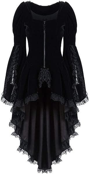 TWGONE Women S Gothic Tailcoat Steampunk Jacket Tuxedo Suit Coat Victorian Costume