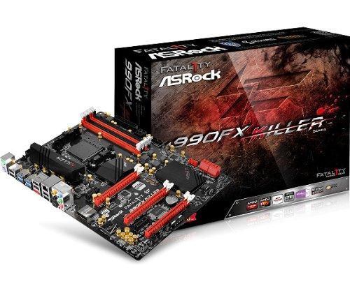 Asrock Fatal1ty 990FX Killer Socket AM3+ AMD 990FX ATX - Motherboards (DDR3-SDRAM, DIMM, 1066,1333,1600,2100,2450 MHz, Dual, 64 GB, AMD)