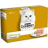 Purina Gourmet Gold Mousse comida para gatos de Pescado del Oceano 12 x 85 g