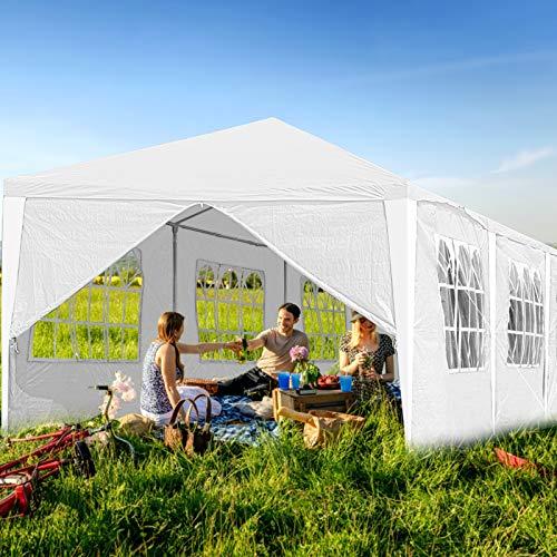 Hengda 3x6m Pavillon Partyzelt UV-Schutz Hochwertiges GartenPavillon Wasserdicht mit 6 Seitenteilen für Hochzeit Party Camping - 3
