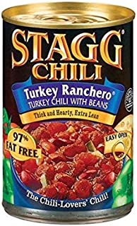 Stagg, Turkey Ranchero Chili with Beans, 15oz Can (Pack of 6)