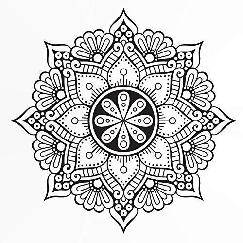 Runde Mandala-Medaillon-Schablone, wiederverwendbar, A3, A4, A5 und größere Größen, Wanddekoration, M3, Widerverwendbare PVC-Schablone, weiß, XS size - 50 x 50 cm, 19.7 x 19.7 in