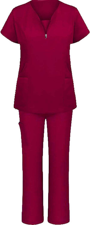 Women Scrubs_Medical Uniform Plus Size Scrubs_Sets Medical Scrubs_Top and Pants Scrubs_Two-Piece Sets