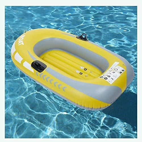 ACEWD Bote Inflable Balsa Hinchable Canoa Inflable para 2 Persona Sin Paleta, Balsa Inflable De PVC Duradera Sin Fugas para Pesca A Deriva, Máx 90 Kg,188 * 114Cm