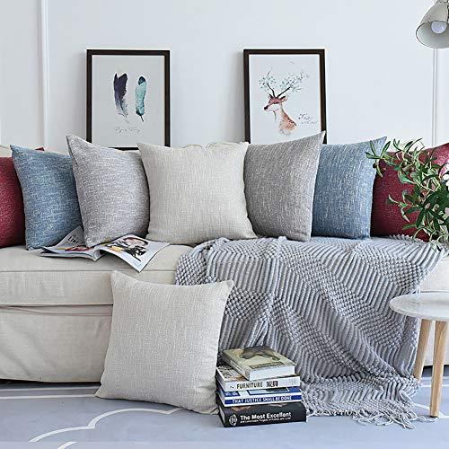 XdiseD9Xsmao effen linnen kussensloop zachte duurzame decoratieve kussens geval car Home slaapbank woonkamer decoratie