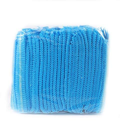 Einweg-Kappen, Mob-Kappen, Haarnetz-Kappen, elastisch, Einheitsgröße, für Kosmetik, Schönheit, Küche, Kochen, Heimindustrie, Krankenhaus (blau)