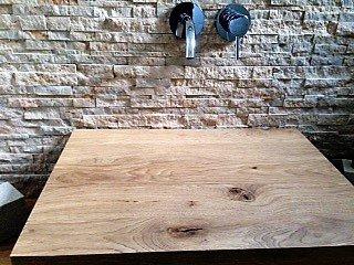 Waschtisch Eiche massiv, Waschtischplatte Massivholz