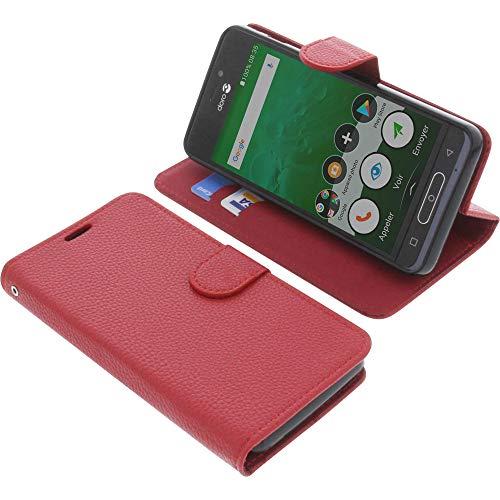 foto-kontor Tasche für Doro 8035 Book Style rot Schutz Hülle Buch