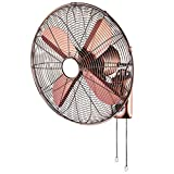 FX Ventilador eléctrico/Ventilador de Pared de Metal Antiguo Retro/Ventilador de Viento Grande Comercial, Industria con Control mecánico de Doble Cuerda, 3 velocidades