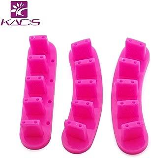 KADS 3pcs/set Plastic Nail Tip Stand for Practice Use Practice Training Nail Art False Tips Display Training Tool (Rosepink)