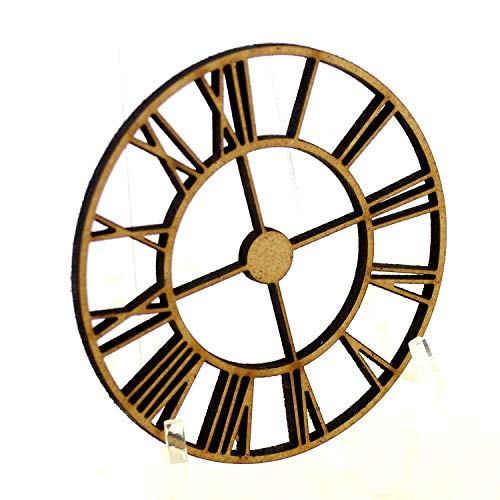 10 Pack of Steampunk Clock shapes, made from 3mm MDF Made in our workshop in the North East of England Ready for Decorating Pack of 10, Size 50mm (5cm) Made from 3mm MDF