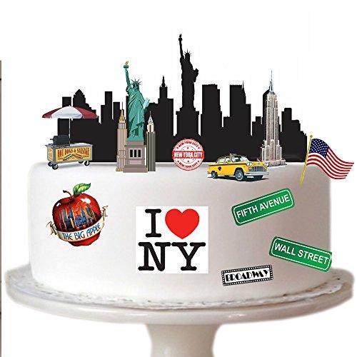 Scène New York City en papier comestibles idéal pour décorer votre anniversaire cakes- facile à utiliser