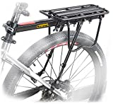 West Biking 110Lb Capacity Almost Universal Adjustable Bike Cargo Rack Cycling Equipment...