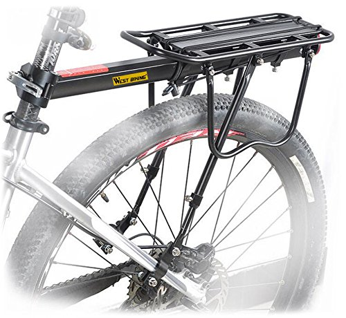 West Biking 110Lb Capacity Almost Universal Adjustable Bike Cargo Rack Cycling Equipment Stand Footstock Bicycle Luggage Carrier Racks with Reflective...