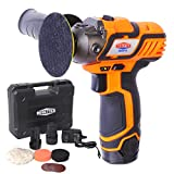 12V Cordless Car Buffer Polisher, 3' Mini Polisher Tool Set with 2 Li-ion Batteries, Charger, and Accessory Kit, Dobetter-DBCAP12