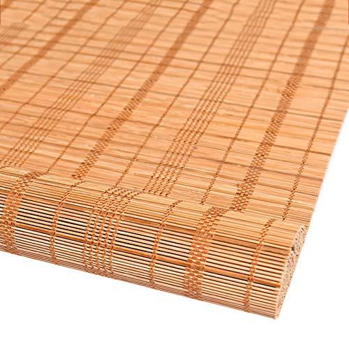 ADASP Persiana de bambú para Interiores Persiana Enrollable De Caña Cortinas Opacas con Polea, Decora Espacios Habitables para Uso Interior Y Exterior
